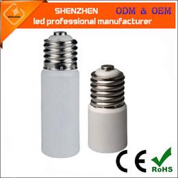 Wholesale Led Light Socket Adapter - E40 TO E40 Lamp Holder Socket Adapter Led Light Bulb Lamp Adapter E40 Converter Lamp Base Adapter Extension