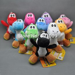 Wholesale Mario Puppets - ing Super Mario Bros Plush Doll Soft Figures YOSHI 4""