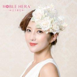 Wholesale Cheap Vintage Hair Accessories - Wholesale- Vintage Wedding Bridal Hair Accessories Flower Veil Headpiece Head Veil 2016 Cheap Mini Wedding Bride Hat