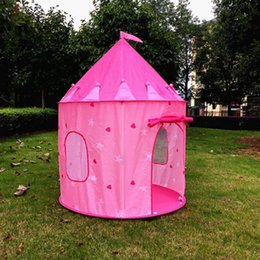 Wholesale Dark Tent - Princess Castle Play Tent with Glow in the Dark Stars, conveniently folds in to a Carrying Case, your kids will enjoy this Foldable Pop Up p