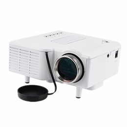 Wholesale vga input laptop - Wholesale-LED Projector projector UC28 Mini Portable Pocket mini PC&Laptop VGA USB SD AV HDMI Input Cinema Theater 1080p