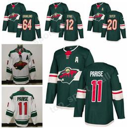 Wholesale Gold 64 - 2017 2018 New Season 11 Zach Parise Jersey Minnesota Wild 20 Ryan Suter 64 Mikael Granlund Ice Hockey Jerseys Green Stitched 12 Eric Staal