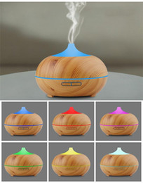 Wholesale Candle Aroma - 300ml Aroma Essential Oil Diffuser Wood Grain Ultrasonic Cool Mist Humidifier for Office Home Bedroom Living Room Study Yoga Spa DHL free