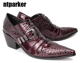 Wholesale Big Heels For Men - ntparker 2017 Gothic Rock Man's leather shoes business causal shoes High-increasing wedding shoes for man, BIG SIZES EU38-45