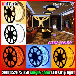 Wholesale 5w Single Led - 110V 3528 5050 single color led strip red gree blue yellow white warm white strip light club decration lamps,flexible strip light 300M a lot