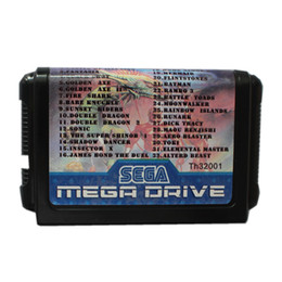 Wholesale Game Cartridges - New Arrival Super Games 32 in 1 16 Bit Game Cart Newest Game Cartridge For Sega Mega Drive   Genesis System