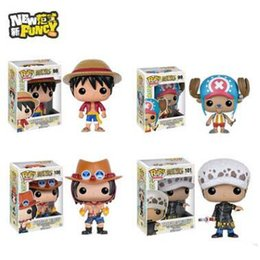Wholesale One Piece Chopper Pvc - FUNKO POP One Piece Luffy Ace Chopper Action Figures PVC Anime Toys Japanese Cartoon Doll Toys For Collection Free Shipping