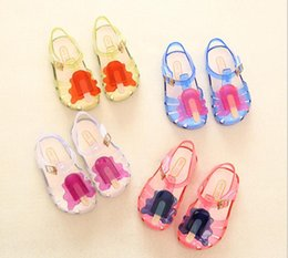 Wholesale Summer Sandals For Baby Girls - mini melissa 2017 Summer Cute girls Sandals little girl Soft shoes Children Baby princess Shoes For Girls kids shoes