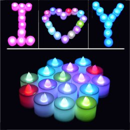 Wholesale Flameless Candle Wholesale - LED Candle Tealight Flickering Flameless Battery Tea Candles Light Romance Wedding Birthday Party Christmas Candles Goods 3002032