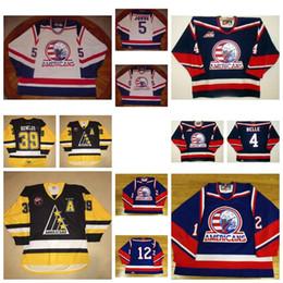 Wholesale Belle Yellow - Customize Mens Womens Kids WHL Tri City Americans 5 Ryan Jorde 4 Shawn Belle Hot Sale Ice Ice Hockey Jerseys S-6XL Goalit Cut