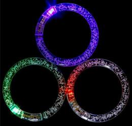 LED light up pulseira brinquedo piscando brinquedos Glowing pulseira Piscando Pulseira De Cristal Partido Disco Presente de Natal cheap blinking bracelets de Fornecedores de pulseiras piscando