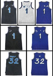 Wholesale Retro Shorts Black - Retro Men Mesh hardaway #1 McGrady #1 Basketball jersey High quality Shaquille O'neal #32 jerseys Cheap sales Embroidery Logos free shipping
