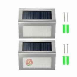 Wholesale Led Solar Panel Lights - Solar Lights LED Lamps solar lights for garden IP44 2 Leds Outdoor Wall lightImported single crystal silicon solar panel cheap but reliable