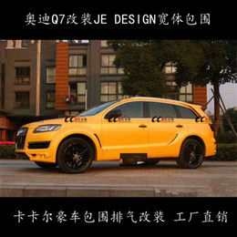 Wholesale Spoiler Audi - JE body kit for Audi Q7 fenders+wheel eyebrows+side skirts+rear bumper+wind spoiler attractive in price and quality