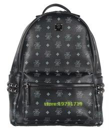 Wholesale Leopard Print Backpack Vintage - 2017 Vintage Women Backpack Pu Leather School Bag For Teenagers Punk Rivet Female Travel Bags Black Bolsos Mujer