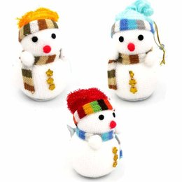 Wholesale Miniature Christmas Ornaments - Wholesale- Hot Exclusive Christmas Decoration X'mas Tree Ornament Snowman Doll Children's Gift Toy Miniature Christmas Decoration Natal