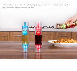 Wholesale Plastic Sauce Bottles - 2 In 1 Spray Olive Oil Bottle Pour Soy Sauce Pot Cooking Roast Bake Oil Bottle Tools