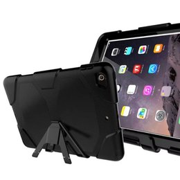 Wholesale Military Tough Case Cover - Tough RUGGED MILITARY DUTY Shock Proof Dirt Proof Armor STAND Case Cover For New iPad 2017 9.7 A1822 A1823