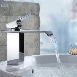 Wholesale Basin Mixer Faucet Accessories - Bathromm Accessories Shower Kitchen SPA Faucet Flexible Hose Waterfall Single Handle 3KG Basin Mixer Tap 2016 China Factory T 161222#