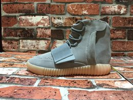 "Wholesale Waterproof Glow Lights - 2017 Wholesale Boost 750 Boost Glow Dark Kanye West BB1840 ""Glow In The Dark"" Light Grey Light Grey Gum Men Women Trainers Shoes With Box"