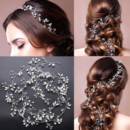 Wholesale Hand Made Hair Accessories - Wedding bridal Hand Made Pearls Hair Band Beaded Crystals Hair Accessories