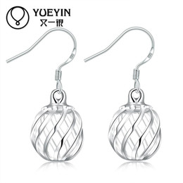 Wholesale Bijoux Wholesale - Hollow Out Ball Drop Earrings Petty Hollow out ball lantern shape Bijoux Drop Earrings Women Sliver plated Long Earrings Brincos Jewelry