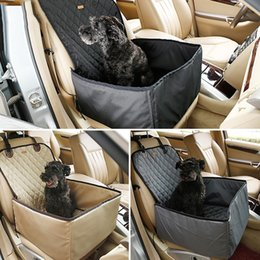 Wholesale Nylon Car Covers - 45*45*58Cm Dog Car Mat Cover Nylon Cloth Thicken Waterproof Pet Travel Mat Black Grey Beige Color Safety For Travelling
