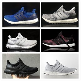 Wholesale Snow Ski Fabric - Fashion 2017 Men Women Ultra Boost 3.0 Triple Running Shoes Ultraboost Mens Run Shoes Sports Trainers Ultra Boosts III Royal Blue Sneakers