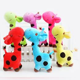 Wholesale Baby Dear Dolls - 1 PC Unisex Baby Kid Child Girls Cute Gift Plush Giraffe Soft Toy Animal Dear Doll Christmas Birthday Happy Gifts18 X 17 cm