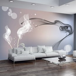 Wholesale Abstract Vintage Wallpaper - Custom Mural Wallpaper Personalized Non-woven Wall Covering Abstract Modern Minimalist Black And White TV Backdrop Wallpaper