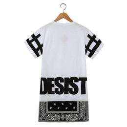 Горячая бандана онлайн-Мужчины и женщины длинная рубашка горячая унисекс хип-хоп тройник бандана футболка прекратить воздерживаться прохладный мода панк топы тройник богемный цветочный с застежкой-молнией