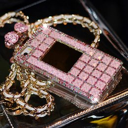 Wholesale Cute Perfume Bottles - 01 Rhinestone Perfume Bottle Cute Bowknot Handmade Phone Protect Back Cover Cellphone Case For Samsung Galaxy iPhone 5 5s 6 6 Plus 7 7 Plus
