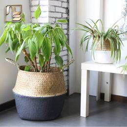 Wholesale Natural Baskets - seagrass baskets home storage baskets planthandmade natural Storage Box Storage basket grey black color