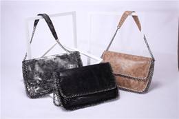 Wholesale Euro Style Bag - factory handmade new euro PVC chain women shoulder bag with cover size38cm
