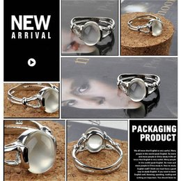 Wholesale Swan Set - Twilight New Moon BELLA Natural Moonstone Ring Isabella Swan Cullen Vampire Girl Ring - Jewelry Moonstone Ring