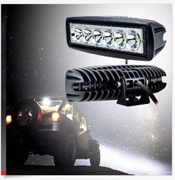 Wholesale Cree Offroad Lights - 1550LM Mini 6 Inch 18W 12V CREE LED Work Light Bar Car Work light Lamp for Boating   Hunting   Fishing   Offroad CLT_401
