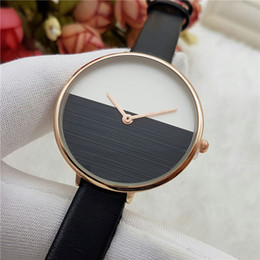 Wholesale Designer Leather Wrist Watch - Wholesale fashion watches women luxury brand Designer Leather band Quartz wrist watch For ladies girls Wristwatches Valentine Gift Wtach