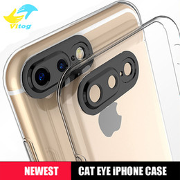 Wholesale New Eyes Protection - New tpu soft phone case 0.3mm 3D cat eyes protection camera shell for iPhone7 iPhone 7 6s 6 plus mate9 protector cover case