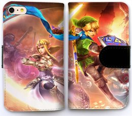 Wholesale Iphone Zelda - Pattern Flip Leather Wallet Case DIY Customize Phone Shell Cover for iPhone 6 6S (4.7 inch) Legend of Zelda