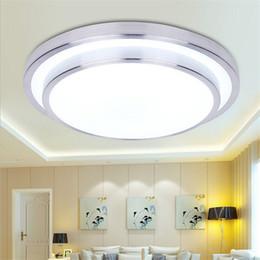 Habitaciones forradas online-Línea de aluminio doble 12W / 18W / 24W / 36W llevó la luz de techo moderna redonda llevó las lámparas del techo Dormitorio de la lámpara del dormitorio de la sala 290/350/400 / 520m m 85-265V