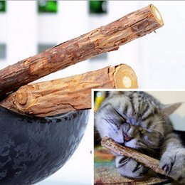 Wholesale Cat Toys Free Shipping - Natural catnip Cat cleaning teeth Pure pet cat molar Toothpaste stick silvervine actinidia fruit Matatabi cat toy free shipping