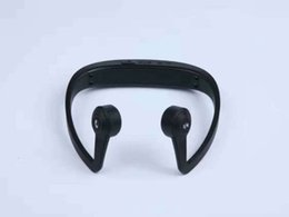 Wholesale Bone Phone Headphones - Newest LF-V9 Wireless Bluetooth Headset Waterproof Neck-strap Headphone Bone Conduction Hands-free Earphone Headset for Outdoor DHL Free