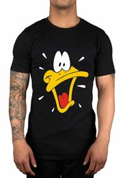 Wholesale Face Cotton Rounds - Daffy Duck Sweat Face T-Shirt Cartoon Classic Funny Novelty Gift Retro Swag Rude Top Tee Round Neck