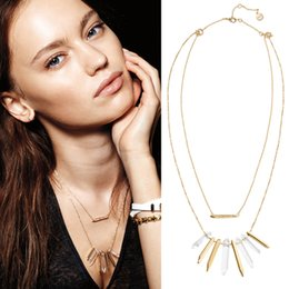 Wholesale Stella Necklace - Wholesale- 2017 stella Brand Jewelry necklace and dot multi layer necklace gold chain jewelry, fashion personalized layered necklace