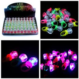 Luminoso anello piccolo diamante colorato lampeggiante LED Fingerring bambini bambini anello luminoso dito luce bagliore giocattoli fabbrica all'ingrosso 733 da commerci all'ingrosso occhiali da sole rave fornitori