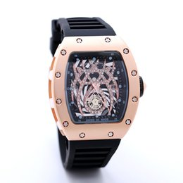 Wholesale Silicone Date Watch - 2017 New Luxury brand Skull sport Watches men Casual Fashion Skeleton quartz watch free shippingMontre Homme SPROT WATCH2