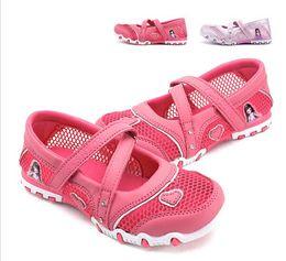 Wholesale Summer Child Sandals Cartoon - 2017 New Summer High Quality Non-slip Children Shoes Girls fashion Sandals Cartoon Princess Sandals Kids Flat G144