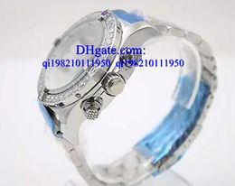 diamante para anal Desconto Relógios de luxo Caixa grátis Diamond Bezel Milky Dial 50mm Relógio de pulso de homens Platinum Skeleton Full Stainless Steel Bracelet Cronômetro Masculino Anal