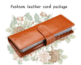 Wholesale Dresses Coupons - 56 Card Cow Leather Position Card Book Credit Name Bank Cash Coupon Business Cards Holder Organizer Card Pack