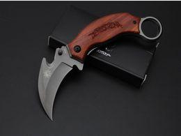 Wholesale Wholesale Survival Knifes - New Pterosaur Mantis X52 Karambit Claw Tactical Folding Knife Titanium 5Cr13 57HRC Outdoor Hiking Hunting Survival Pocket Knife Utility EDC